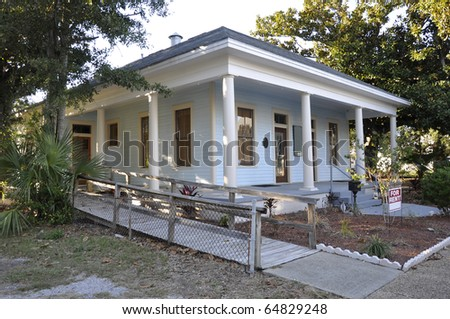single story home for rent in Biloxi, Mississippi - stock photo