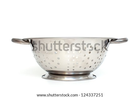 Single strainer on a white background - stock photo