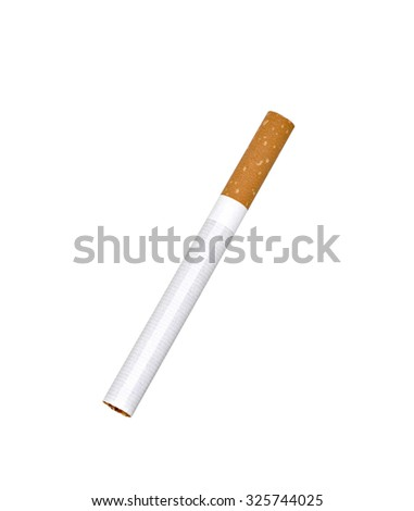 single unlit cigarette isolated - stock photo