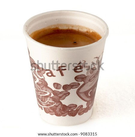 single use cap of coffee a specially to go with clipping path for easy background removing if needed