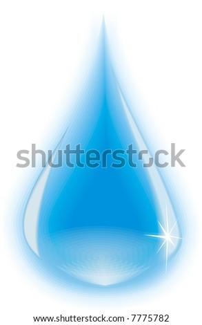 Single water drop - stock photo