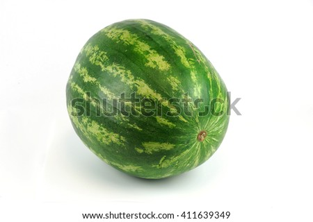 single watermelon on white background