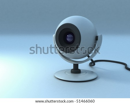 Single Web-cam for Communication - stock photo