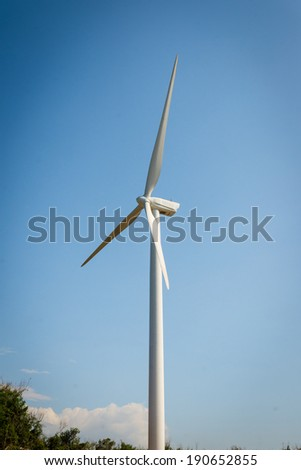 Single windmill for generating electric power