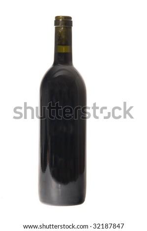 Single wine bottle - stock photo