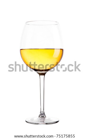 Single wine glass - stock photo