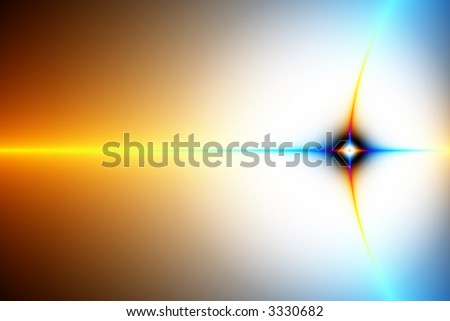 Singularity illustration, stars in space or crossing paths of communication - stock photo