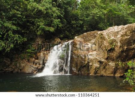 Sinharaja Rainforest Waterfall - stock photo