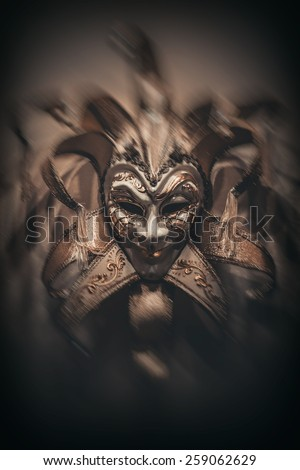 Sinister Joker mask - stock photo