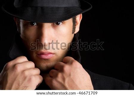 Sinister Man - stock photo