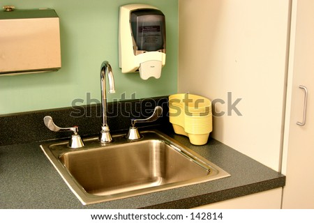 sink in an exam room