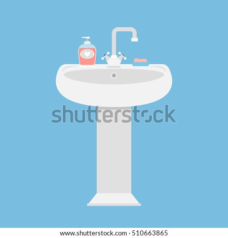 Sink in the bathroom for washing face and hands