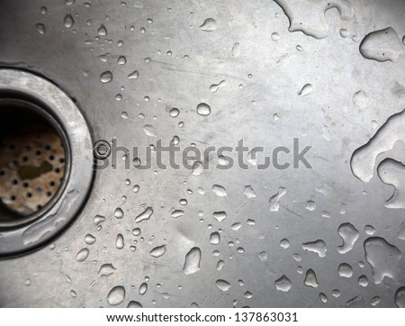 Sink water droplets - stock photo