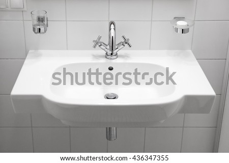 Sink.White Sink.Bathroom Sink.Washstand.Wash Basin.Basin.