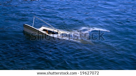 Sinking ship - stock photo