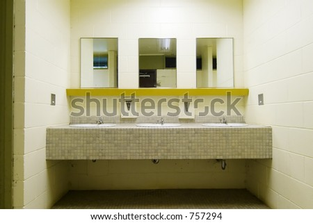 Public Bathroom Mirror Stock Images Royalty Free Images Vectors