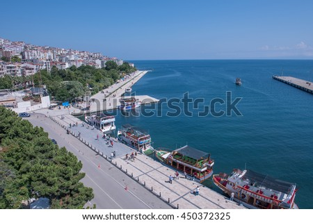SINOP, TURKEY - JULY 5, 2016: The northernmost city of Turkey; Sinop. Sinop Province is a province of Turkey, along the Black Sea.