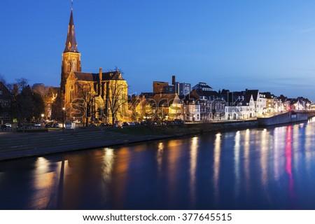 Sint Martinuskerk Church in Maastricht. Maastricht, Limburg, Netherlands. - stock photo