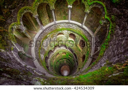 Sintra, Portugal at the Initiation Well - stock photo