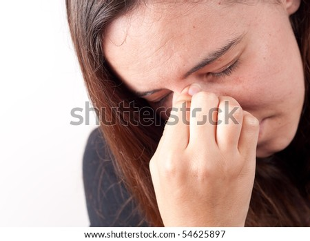 Sinus Pressure - stock photo