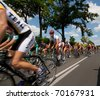 SIOFOK, HUNGARY - JULY 13 : Unidentified cyclists during an international cycle race on November 13, 2007 in Siofok, Hungary. - stock photo