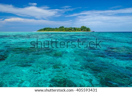 Sipadan island off the coast of Borneo - stock photo