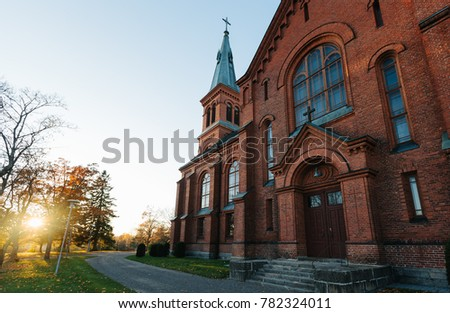 Sipoo Church Finland Autumn