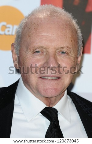 Sir Anthony Hopkins arriving for the Classic Brit Awards 2012 at the Royal Albert Hall, London. 02/10/2012 Picture by: Steve Vas - stock photo