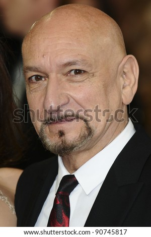 "Sir Ben Kingsley arriving for the ""Hugo"" Royal Gala Premiere at the Odeon Leicester square, London. 28/11/2011 Picture by: Alexandra Glen / Featureflash"
