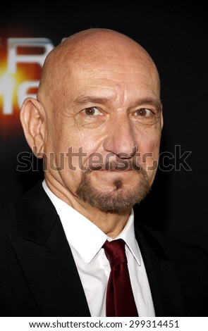 """Sir Ben Kingsley at the Los Angeles premiere of """"Ender's Game"""" held at the TCL Chinese Theatre in Hollywood on October 28, 2013 in Los Angeles, California.   - stock photo"""