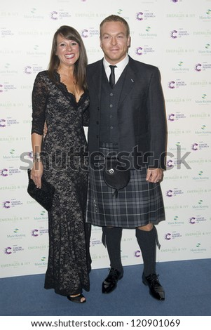 Sir Chris Hoy arriving for the Emeralds And Ivy Ball, London. 01/12/2012 Picture by: Simon Burchell - stock photo