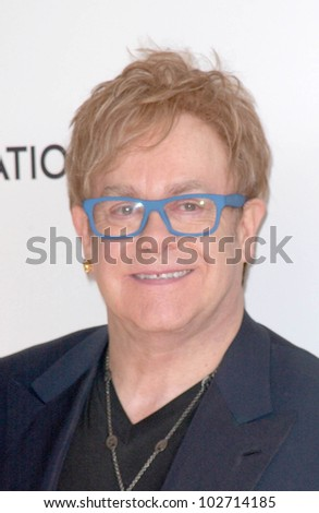 Sir Elton John  at the 18th Annual Elton John AIDS Foundation Oscar Viewing Party, Pacific Design Center, West Hollywood, CA. 03-07-10 - stock photo