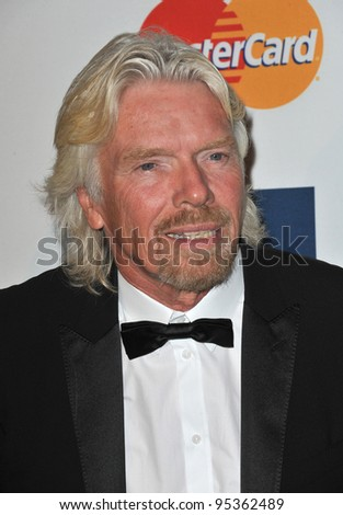 Sir Richard Branson at the 2012 Clive Davis Pre-Grammy Party at the Beverly Hilton Hotel, Beverly Hills. February 11, 2012  Los Angeles, CA Picture: Paul Smith / Featureflash - stock photo