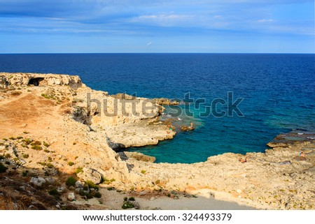 SIRACUSA, ITALY - AUGUST, 23: View of the Syracuse sea, famous city in Sicily on August 23, 2015