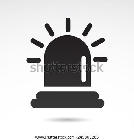 Siren icon isolated on white background.  - stock photo