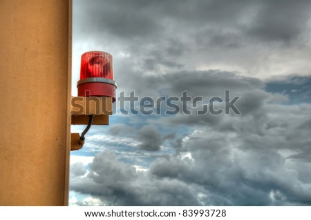 siren on the sky background (high dynamic range) - stock photo