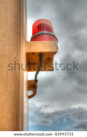 siren on the sky background (high dynamic range) - stock photo