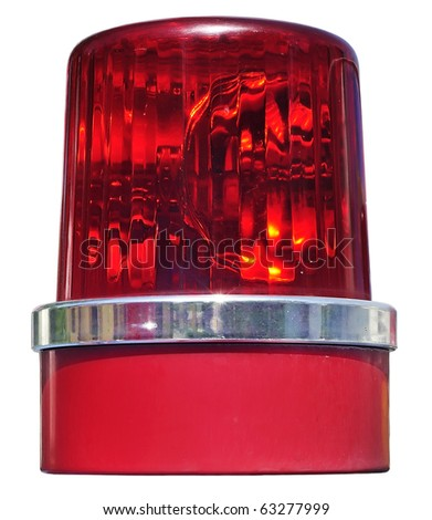 Siren real isolate revolving light color - stock photo