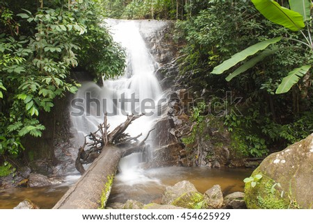 Siribhum waterfall in Doi Inthanon National park Chiangmai Thailand