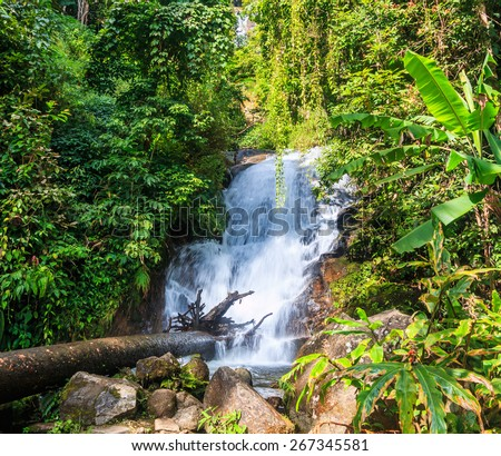 Siribhume  waterfall in Doi Inthanon National park in Chiang Mai Thailand
