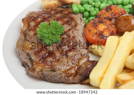 Sirloin steak with chips