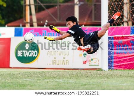 SISAKET THAILAND-MAY 28: Sinthaweechai Hathairattanakool in action during a training ahead Thai Premier League between Sisaket FC and Chonburi FC at Sri Nakhon Lamduan Stadium on May 28,2014,Thailand - stock photo
