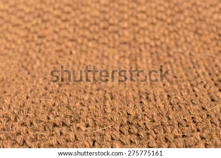 Sisal carpet macro with selective focus for background - stock photo