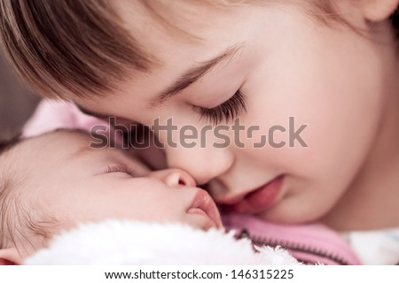 Sister love - stock photo