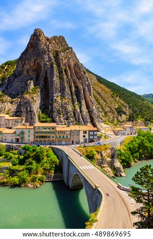 Sisteron in Provence - old town at the France