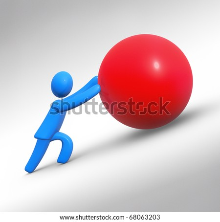 Sisyphus - stock photo