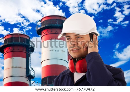 Site manager - stock photo