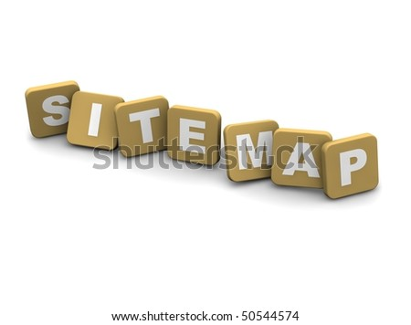 Site Map text. 3d rendered illustration isolated on white. - stock photo