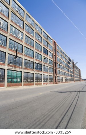 Site of the first Ford automotive conveyor in Detroit, Michigan - stock photo