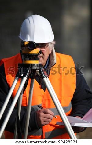 Site surveyor - stock photo
